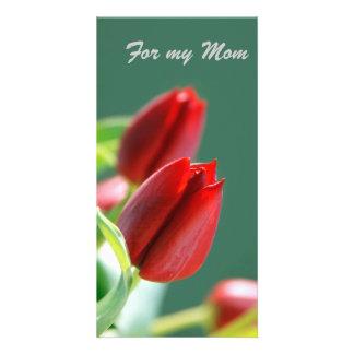 For my Mom Card Customized Photo Card