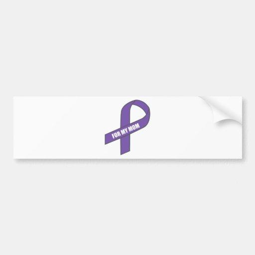 For My Mum (Purple Ribbon) Bumper Stickers