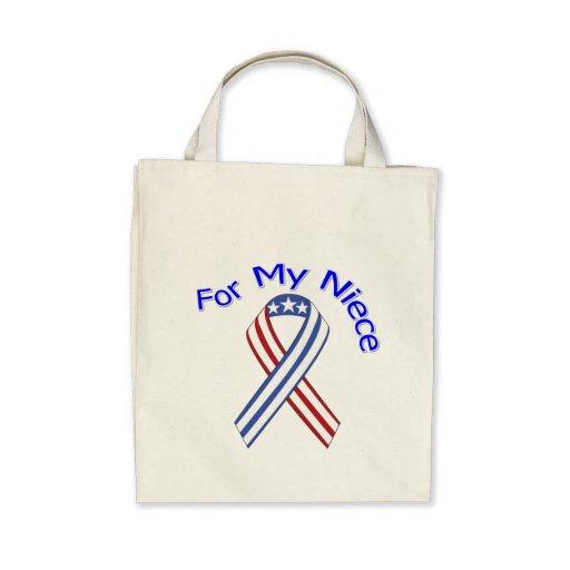 For My Niece Military Patriotic Tote Bag