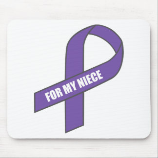 For My Niece (Purple Ribbon) Mouse Pads
