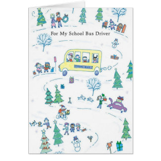 For My School Bus Driver Greeting Card
