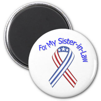 For My Sister-in-Law Military Patriotic 6 Cm Round Magnet