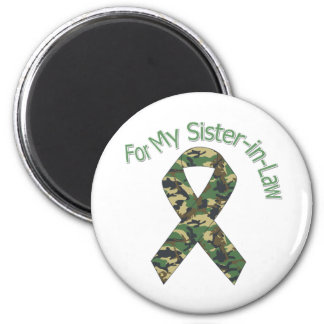 For My Sister-in-Law Military Ribbon 6 Cm Round Magnet