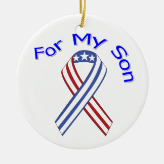 For My Son Military Patriotic Christmas Ornament