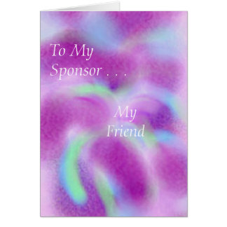 For my sponsor greeting card