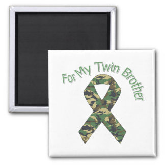 For My Twin Brother Miltary Ribbon Fridge Magnets