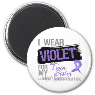 For My Twin Sister - Hodgkins Lymphoma Ribbon 6 Cm Round Magnet