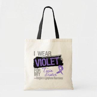 For My Twin Sister - Hodgkins Lymphoma Ribbon Budget Tote Bag