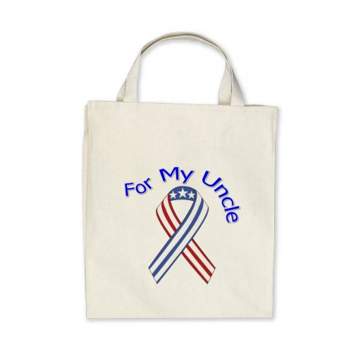 For My Uncle Military Patriotic Canvas Bag