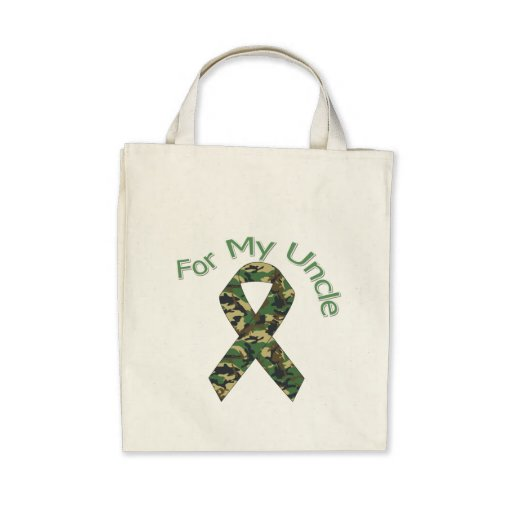 For My Uncle Military Ribbon Tote Bag