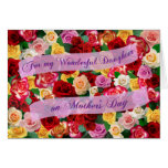 For My Wonderful Daughter on Mother's Day - Roses Greeting Card