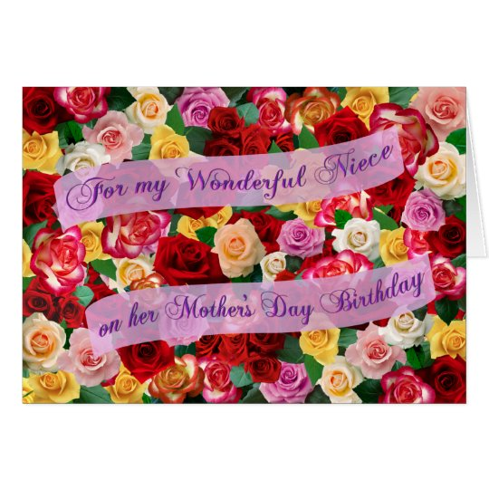 For my Wonderful Niece on Mother's Day Birthday Card