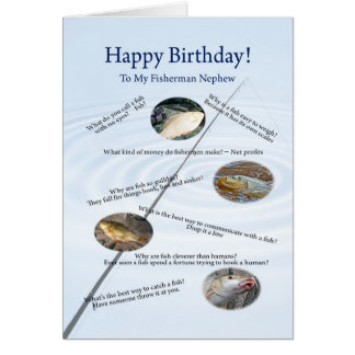 For nephew, Fishing jokes birthday card