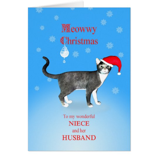 For niece and her husband, Meowwy Christmas cat