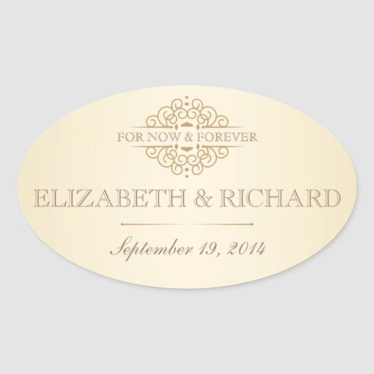 For Now & Forever Vintage Wedding Labels