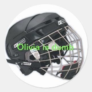 For Olivia Round Sticker