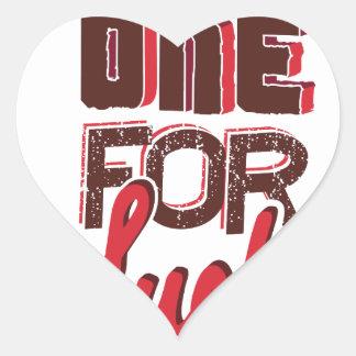 For One luck Heart Sticker