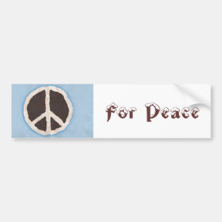 For Peace chocolate peace pie bumper stickers
