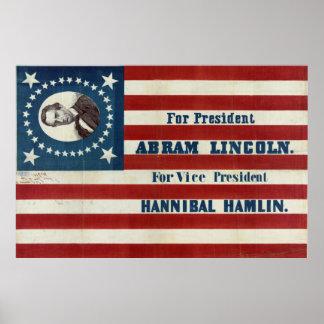For President - Abram Lincoln Poster