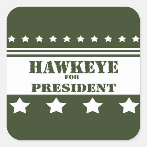 For President Hawkeye Sticker