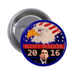 For President in 2016 Scott Walker 6 Cm Round Badge
