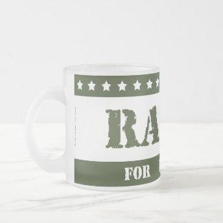 For President Radar Frosted Glass Mug