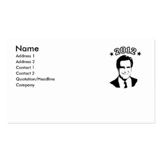 FOR ROMNEY 2012 BUSINESS CARD TEMPLATE