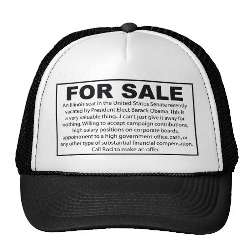For Sale - Barack Obama's US Senate Seat Hats