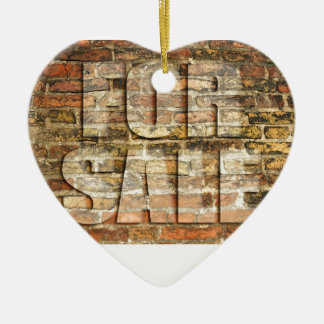 For sale - on ancient brick wall christmas ornament