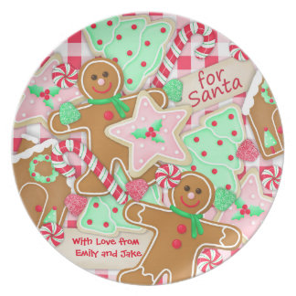 """""""For Santa, With Love"""" Personalized Cookie Plate"""