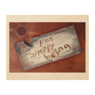 for simply being wood canvas