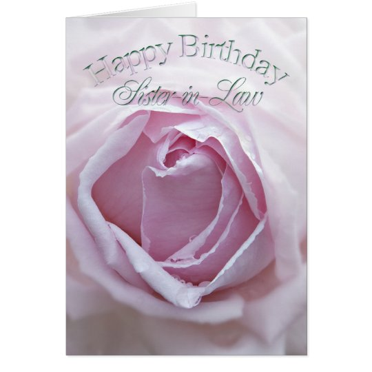 For sister-in-Law, Birthday card with a pink rose