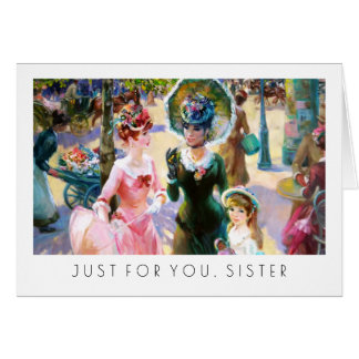 For Sister on Mother's Day Fine Art Cards
