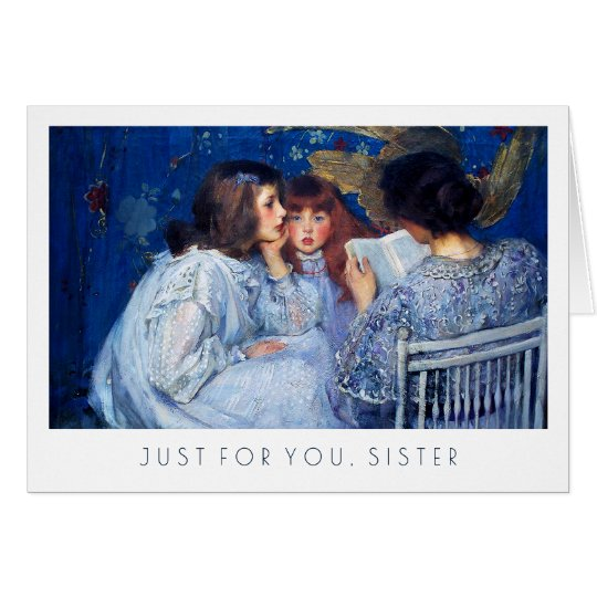 For Sister on Mother's Day Fine Art Greeting