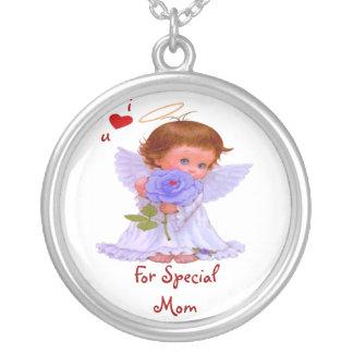 For Special Mom Round Sterling Silver Necklace