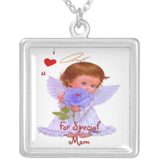 For Special Mom Square Sterling Silver Necklace