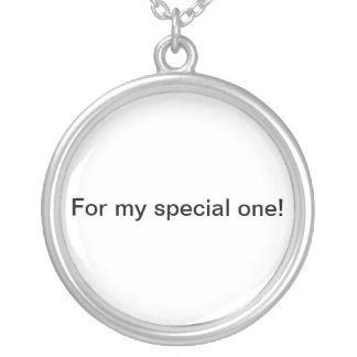 for special one round pendant necklace