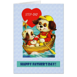 For Step Father  on Father's Day Greeting Card