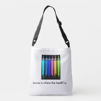 for student, crafter or the artist crossbody bag