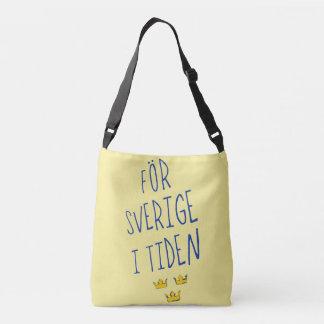 För Sverige i Tiden Bag, Swedish Motto Crossbody Bag
