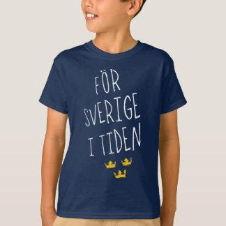För Sverige i Tiden Swedish Motto Tee Shirt