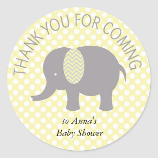 For Thank you coming ELephant Baby Shower Round Sticker