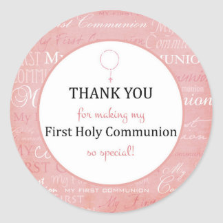 For Thank you coming - First Holy communion tag - Round Sticker