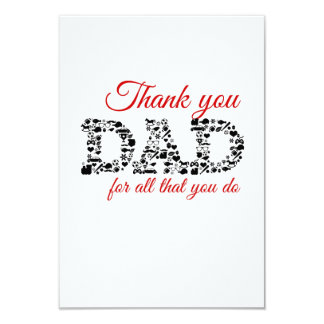 For Thank you Dad all that you do 9 Cm X 13 Cm Invitation Card