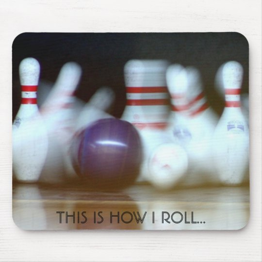 For the bowlers in the family mouse mat