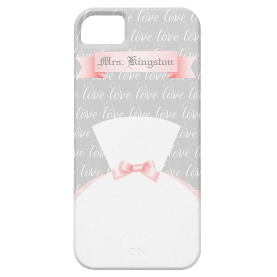 "For the Bride Personalised ""Mrs."" Barely There iPhone"
