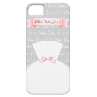 "For the Bride Personalized ""Mrs."" Barely There iPhone 5 Case"
