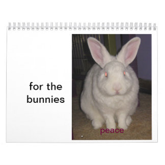 for the bunnies calendars