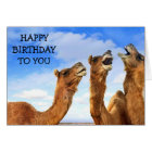 "FOR THE ""CHILD"" THESE CAMEL SING ""HAPPY BIRTHDAY! CARD"