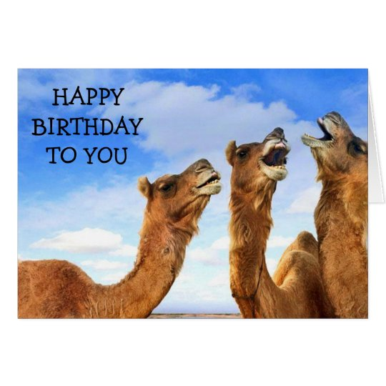 "FOR THE ""CHILD"" THESE CAMEL SING ""HAPPY BIRTHDAY!"